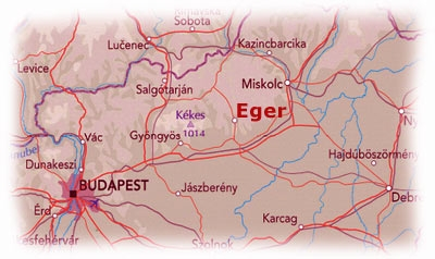 Map of Eger area.